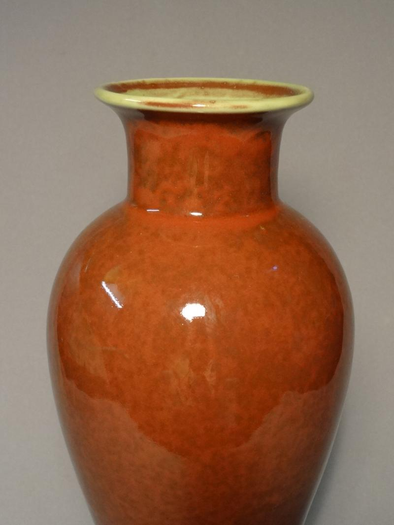 Chinese peach bloom vase 19th c